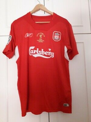 Maglia gara retro Liverpool FC Final Champions League 2004 Xavi Alonso taglia L