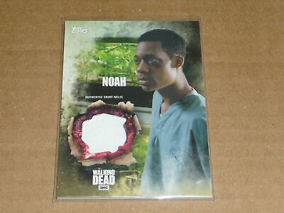 2016 Topps THE WALKING DEAD SEASON 5 NOAH SHIRT RELIC SWATCH E3250