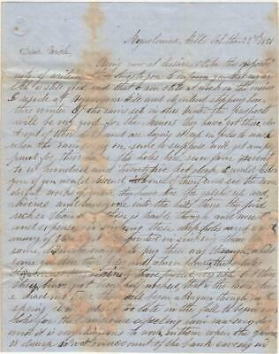 1851 miners letter from Moquolumne Hill, the infamous California Gold Rush town
