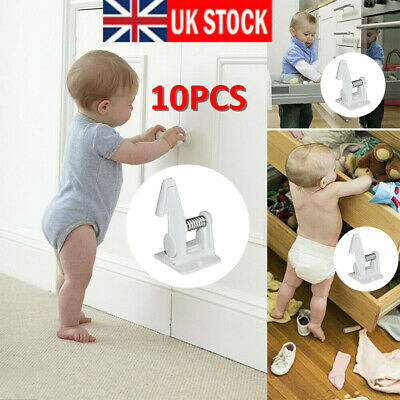 10PCS Invisible Child Safety Adhesive Lock Baby Pet Proof Cupboard Door Drawer