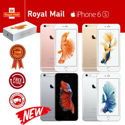 New Apple iPhone 6s 16GB 64GB 128GB Sim Free Unlocked Smartphone Plus Free Gift