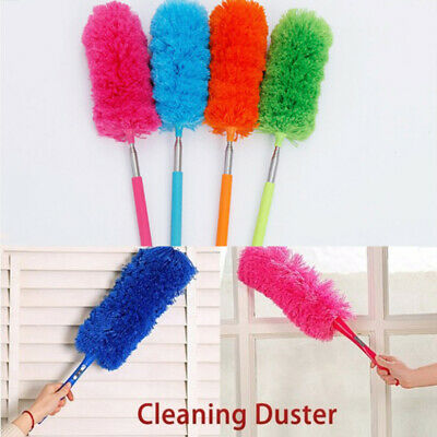 Adjustable House Cleaning Telescopic Duster Brush Extendable  Soft Microfiber