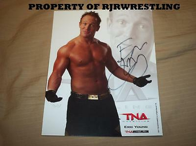 TNA ERIC YOUNG P-38 OFFICIAL 8X10 LICENSED PROMO PHOTO