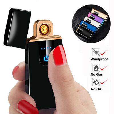 Smart Touch Sensor Electric Lighter USB Rechargeable Windproof Flameless Lighter
