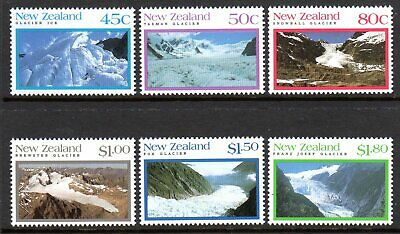 1992 NEW ZEALAND GLACIERS SG1675-1680 mint unhinged
