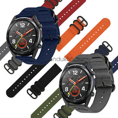 Hot Durable Military Nylon Watch Band Strap For Huawei Watch GT 22mm Watch Lug