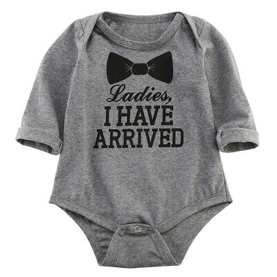 Newborn Toddler Kids Baby Boy Cotton Long Sleeve Romper Jumpsuit Outfits Clothes