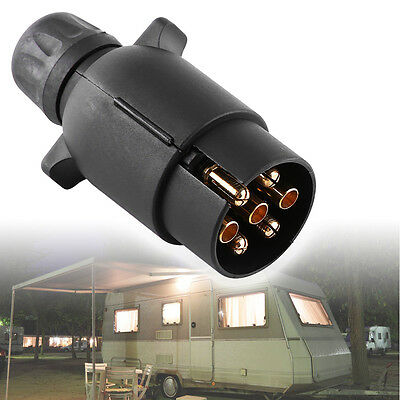 12V 7-Pin Electric Trailer RV Light Plug N-Type 7-Pole Wiring Connector Adapter