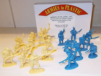 Armies in Plastic 5659 - French & Indian War, Rangers / Indians     1/32 Figures