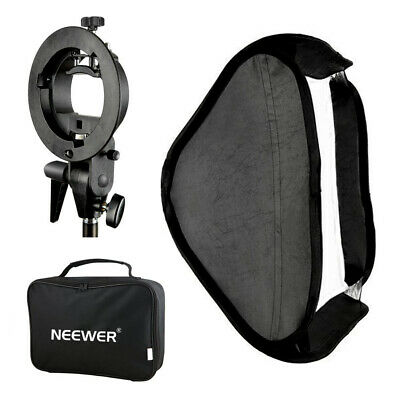 Neewer S-type Flash Speedlite Bracket Mount with 60x60cm Softbox and bag