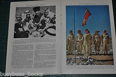 1947 PALESTINE magazine article, Archeology, history, people, color photos