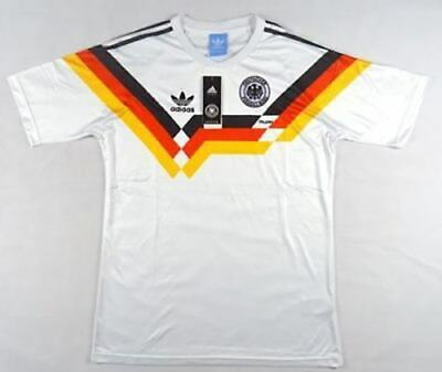 West Grmnay Retro Shirt Home 1990 World Cup Classic Vintage Sizes S M L XL