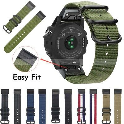Nylon Loop Watchband Quick Release Strap Band For Garmin Fenix 5 5X 5S Plus UK
