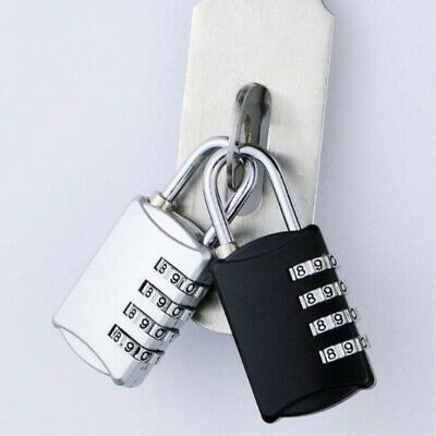 4 Digits Alloy Combination Padlock Number Luggage Suitcase Travel Code Lock