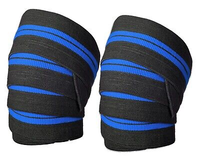 Immortal Power Weight Lifting Elasticated Knee Wraps Bandage Support Gym Straps