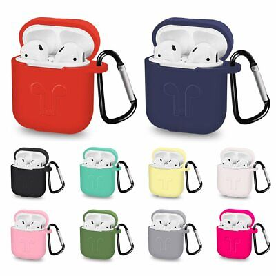 Airpods Case Cover Shockproof Silicone Gel Bumper For Apple Airpod Charging Case