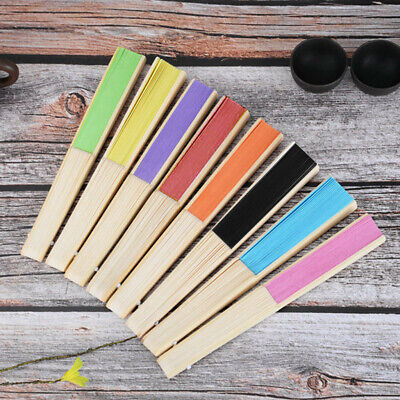 Chinese Style Hand Held Fan Bamboo Paper Folding Fan Party Wedding Decor Popular