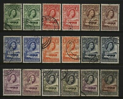 Bechuanaland 1955 Collection 18 QEII Pre Decimal Values Used
