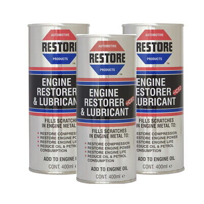 AMETECH ENGINE RESTORE OIL for VAG AUDI A2 A3 A4 A5 A6 TDi ENGINES -  3 x 400ML