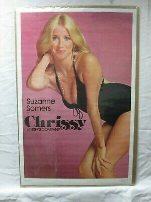 Suzanne Somers Chrissy In Three's Company Vintage Poster Cave Hot Girl Cng557