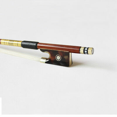 Special Frog Genuine Pernambuco violin bow Gold Mounted perfect playing quality