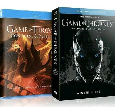 Game of Thrones Season 7 Blu Ray With Conquest & Rebellion Bonus Disc FAST&F P&P