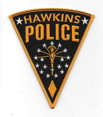 Stranger Things TV Series Hawkins Police Logo Embroidered Patch NEW UNUSED