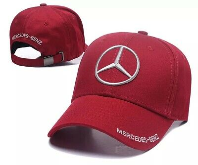 New MERCEDES Logo AMG Cap Sport Baseball Hat outdoor Adjustable Red