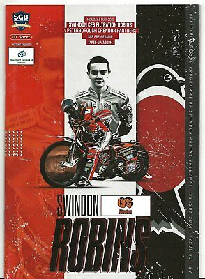 Speedway Programme>SWINDON ROBINS v PETERBOROUGH PANTHERS May 2019