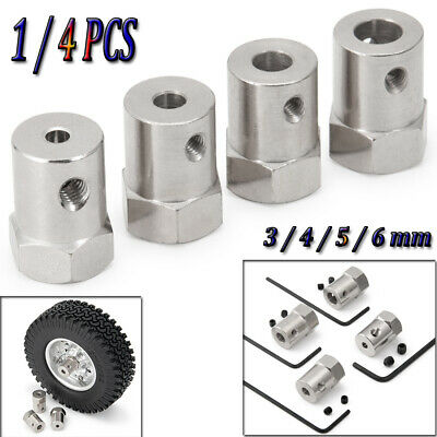 3/4/5/6mm Wheel Hex Coupler Connector Hexagon Shaft Coupling For DIY RC Car Boat
