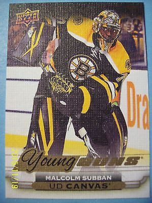 """2015-16 Upperdeck Young Guns """"Canvas"""" # C100 Malcolm Subban RC!"""