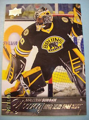"2015-16 Upper Deck ""Young Guns"" Rookie Card # 211 Malcolm Subban RC!"