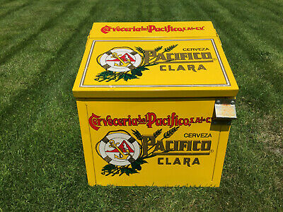 Cerveza Pacifico Clara Beer Galvanized Liner Insulated Ice Chest Cooler w/Opener