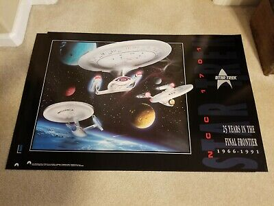 Star Trek 25th Anniversary 1966-1991 25 Years in The Final Frontier Poster