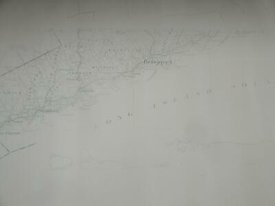 Connecticut Large Stock Paper Wall Map Long Island Sound Greenwich to Milford