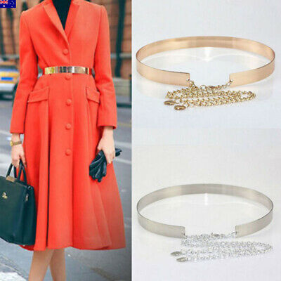 Fashion Women's Ladies Metal Waist Belt Modern Dress Chain Belt Jewelery AU
