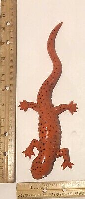 Rubber Red Lizard With Black Spots Toy