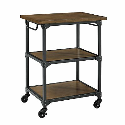 Dorel Living DL7839 Nellie Multifunction Cart, Rustic Antique Oak/Black New