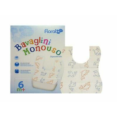 80 x Disposable Dining Bibs Baby Bib Disposable Bibs with Babymotiven New Top