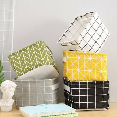Foldable Fabric Storage Box Small Toys Cosmetic Case Basket Desk Organizer Tidy