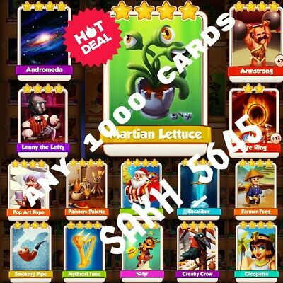 Take Any 15 From Martian Lettuce, Fire Ring, Armstrong, Andromeda :- Coin Master