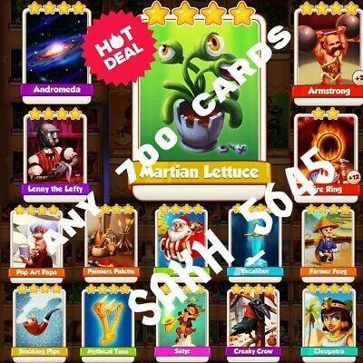 Take Any 30 From Martian Lettuce, Fire Ring, Armstrong, Andromeda :- Coin Master