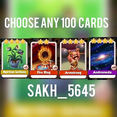 Take Any 100 From Martian Lettuce, Fire Ring, Armstrong, Andromeda:- Coin Master