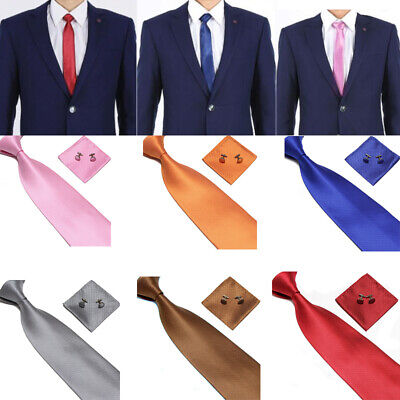 UK Mens Tie cufflink Set hankerchief Grey Necktie Hanky Set Wedding GIft Set