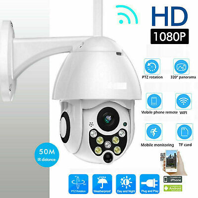 1080P WIFI IP White HD Camera Smart Wireless Outdoor CCTV Home Security IR Cam