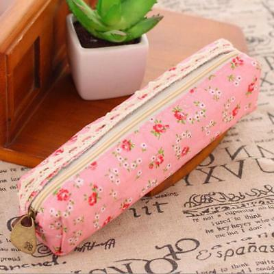 School Stationery Pencil Case Pen Box  Cosmetic Makeup Pouch Zipper Bag SU