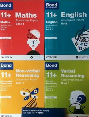 Bond 11 Plus Assessment Papers English Maths Verbal Reason 10-11 Year 4book Set