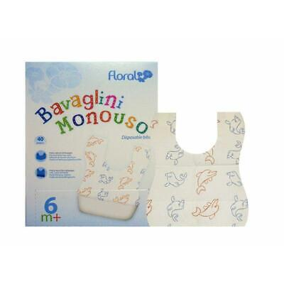 40 x Disposable Dining Bibs Baby Bib Disposable Bibs with Babymotiven New Top