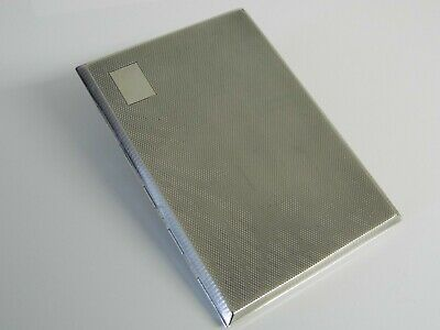 A SUPERB LARGE & HEAVY SOLID SILVER ART DECO CIGARETTE CASE BIRMINGHAM 1946 197g