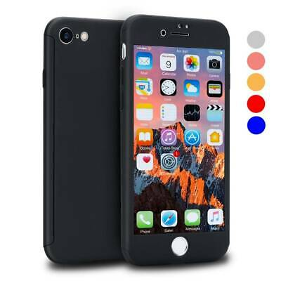 Armor Hard Cover Hülle 9H Tempered Glass Case für iPhone 6 6s 7 8 Plus Newest